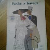 Revista franceza Modes et Travaux 1 mai 1934 moda si design vestimentar art deco chic fashion cool Franta peste 125 ilustratii + reclame de epoca