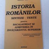 ISTORIA ROMANILOR SINTEZE-TESTE PENTRU BACALAUREAT SI ADMITERE