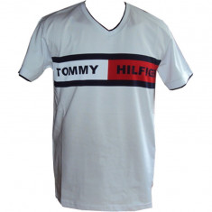 TRICOURI TOMMY HILFIGER PENTRU BARBATI! - Tricou barbati Tommy Hilfiger, Marime: XL, Culoare: Alb, Maneca scurta, Bumbac