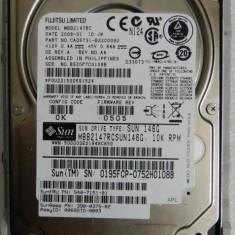 HDD SAS Fujitsu MBB2147RC MBB 10K RPM 147GB 16MB Cache SAS 2.0 6Gb/s 2.5