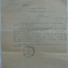 Adresa si afis original, dublu, din anul 1933 ; Instiintare catre toti Daunatii de rasboiu din intreaga tara