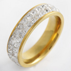 Inel filat cu Aur 9K, Cristale Swarovski, marime 7 si 11, 5(US) SW1604 - Inel Swarovski