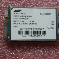 Adaptor PCMCIA, 3G/ GPRS Data - MODUL 3G SAMSUNG Y3100 NC10 UMTS HSDPA WWAN PERFECT FUNCTIONAL