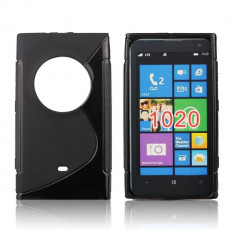 Husa Nokia Lumia 1020 TPU S-LINE Black - Husa Telefon Nokia, Negru, Gel TPU, Fara snur, Carcasa