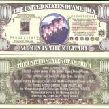 Bancnota Straine - !!! SUA = FANTASY NOTE = FEMEI IN ARMATA - 2009 - UNC