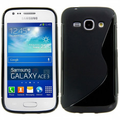 Husa TPU S-LINE Samsung Galaxy Ace 3 S7270 S7272 Black - Husa Telefon Samsung, Negru, Gel TPU, Fara snur, Carcasa