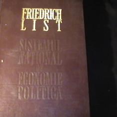 SISTEMUL NATIONAL DE ECONOMIE POLIT- FRIEDRICH LIST-ED. INGR-N. VALEANU-370 PG - Carte Economie Politica