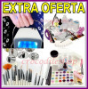 KIT SET UNGHII FALSE GEL UV MANICHIURA  TOPCOAT PRIMER DEGRESANT PENSULE LAMPA