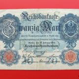 Bancnota Straine, Europa - GERMANIA - 20 Mark 1914