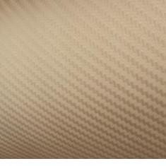 Folii Auto tuning - Rola folie carbon 3D aurie latime 1.27mx30m