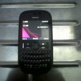 Vand nokia asha 201 - Telefon Nokia, Negru, 1GB, Neblocat, Single core, 128 MB