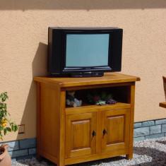 Comoda dormitor - RO-608 Comoda TV Stejar lemn masiv partial