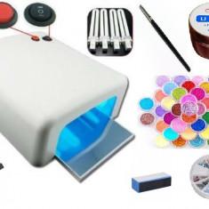 Unghii false - Kit / set manichiura lampa uv gel