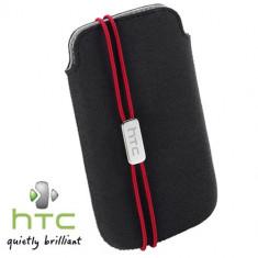 HUSA HTC DESIRE V ORIGINALA TOC CULOARE NEAGRA Model PO S800 + PORT CARD INCLUS IN HUSA + FOLIE DISPLAY + livrare gratuita