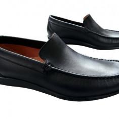 Pantofi barbati piele naturala Denis-1040-n, Marime: 42, Culoare: Nero