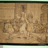 Tapiserie tesuta inramata an 1900, DE 193/143, adusa din moldova - tesatura textila