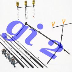 Lanseta - Set de 3 lansete OXYGEN RUNNER cu mulinete MELALUKA 4rul, si rod pod full echipat