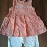 Haine Copii 1 - 3 ani Calvin Klein, Compleuri, 98 (3 ani, inaltime 93-98 cm), Orange - COMPLEU FETITE C.K