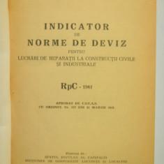 Carti Constructii - INDICATOR DE NORME DE DEVIZ 1961 constructii civile