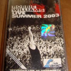 Live at Knebworth Summer 2003 - ROBBIE WILLIAMS / Caseta Audio Originala - Muzica Pop emi records, Casete audio
