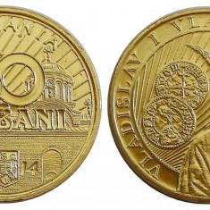 Monede Romania, An: 2014 - 50 BANI 2014 COMEMORATIVE VLADISLAV SI 50 BANI 2014 COMUNE UNC DIN FISIC