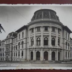 Vedere/Carte postala Craiova - Colegiul Carol - Circulata cu cenzura militara - Carte Postala Oltenia dupa 1918