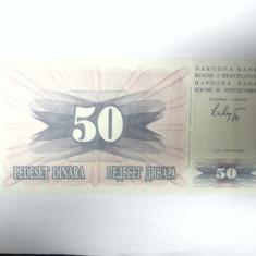BANCNOTA - BOSNIA SI HERTEGOVINA - 50 DINARI 1992