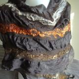 Esarfa matase naturala si lana extrafina - Esarfa, Sal Dama