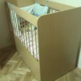 Patut lemn pentru bebelusi, Altele, 120x60cm - Patut lemn cu 2 sertare + saltea