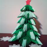 Figurine 3D Origami - Brad de Craciun