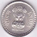 Moneda India 5 Rupii 1995 - KM#154 aUNC, Asia