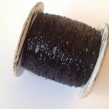 Fir de tricotat sau crosetat , Fir de tip lame , negru ,metalic, stralucitor  ( lurex  )