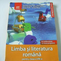 Manual scolar, Romana - LIMBA SI LITERATURA ROMANA PENTRU CLASA A VIII A EDITURA ART GRUP .