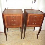 Mobilier - Set de 2 superbe comode stil cu elemente din bronz, stare exceptionala