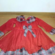 Rochita rosie fetite 3 -4 ani, Culoare: Alb, Rosu