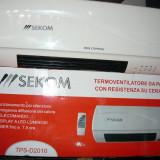 Aeroterma, termoconvertor de perete sekom cu telecomanda, 2000 W, Numar trepte caldura: 2