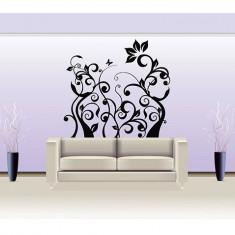 Tapet - Floral_Tatuaj de Perete_Sticker Décor_WALL-532-Dimensiune: 35 cm. X 37 cm. - Orice culoare, Orice dimensiune