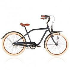 Bicicleta de oras, 17 inch, 26 inch, Numar viteze: 3, Aluminiu, Gri metalizat - Bicicleta BTwin 59ERS