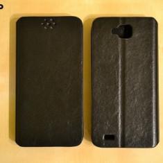 Husa telefon, Allview P5 Qmax, Negru, Piele Ecologica, Toc, Cu clapeta - Husa ALLVIEW P5 QUAD Flip Case Slim Black