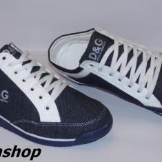 Adidasi DOLCE GABBANA Model NOU de Sezon - Material din Blug !!! - Adidasi barbati Dolce&gabanna, Marime: 42, Culoare: Albastru, Textil