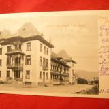 Carte Postala - Ilustrata clasica Slanic Moldova - Hotelul Puff, circ. 1903 cu 5 Bani Spic de Grau