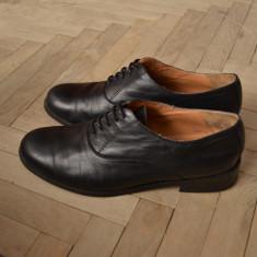 Pantofi ZARA piele naturala - Pantof dama Zara, Marime: 38, Culoare: Negru, Negru