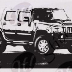 Car Hummer_Tatuaj De Perete_Sticker Decorativ_WALL-085-Dimensiune: 40 cm. X 23.2 cm. - Orice culoare, Orice dimensiune - Tapet