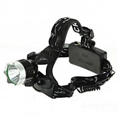 Lanterna Frontala cu Led CREE + incarcator + 2 acumulatori 18650 / 4800 mAh