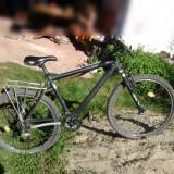 Mtb bicicleta Bergamont de calitate - Mountain Bike Bergamont, 14 inch, 26 inch, Numar viteze: 27, Aluminiu, Negru-Albastru