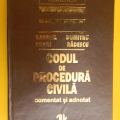 CODUL DE PROCEDURA CIVILA comentat si adnotat Gabriel Boroi 1996 - Carte Drept civil