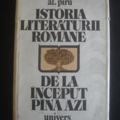 Studiu literar - AL. PIRU - ISTORIA LITERATURII ROMANE DE LA INCEPUT PANA AZI