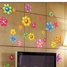 Sticker - autocolant decorativ pentru perete model flori viu colorate