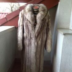 SUPERB MANTOU VULPE ALBASTRA MARIME 48 UMERI 50 CM - Palton dama, Culoare: Din imagine