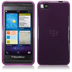 Husa Z10 Blackberry Protectie spate gel TPU mov - Husa Telefon Blackberry, Blackberry Z10, Fara snur, Carcasa